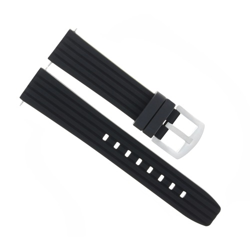 SILICONE RUBBER DIVER BAND STRAP FOR BREITLING CHRONOMAT A17380 COLT BLACK