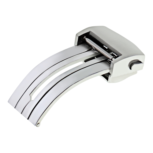 18MM DEPLOYMENT CLASP STRAP BAND FOR TAG HEUER CARRERA F1 AQUARACER WATCH BRUSH
