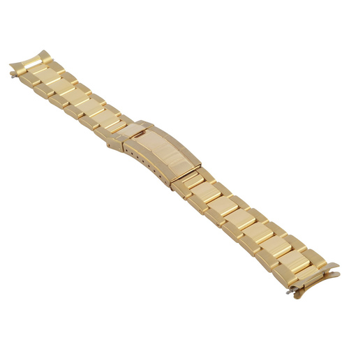 OYSTER WATCH BAND FOR ROLEX DATE AIRKING 1500 1505 5500 19MM GOLD GP FLIP LOCK