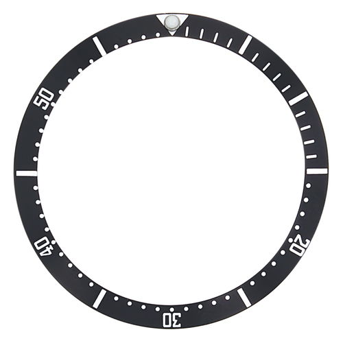 BEZEL INSERT FOR TAG HEUER 980.006 980.32 PROFESSIONAL WATCH BLACK  38MM X 32MM