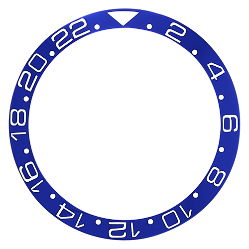 BEZEL INSERT CERAMIC FOR ROLEX GMT 16700 16713 16718  SAPPHIRE BLUE TOP QUALITY