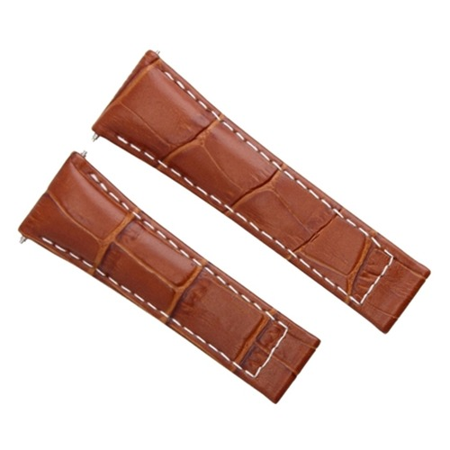 20MM LEATHER BAND STRAP FOR ROLEX DAYTONA 116518 WATCH COGNAC / TAN WS REGULAR