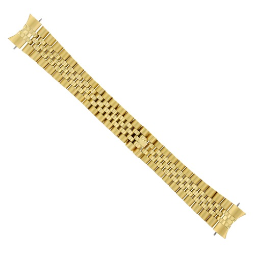 20MM JUBILEE WATCH BAND  BRACELET FOR MENS 36MM ROLEX DATEJUST 16233 GOLD COLOR