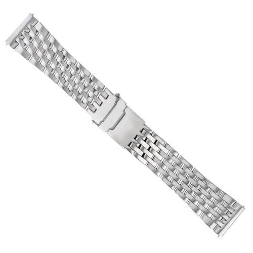 24MM WATCH BAND BRACELET FOR BREITLING CHRONOMAT AVENGER 7 LINK POLISH STAINLESS