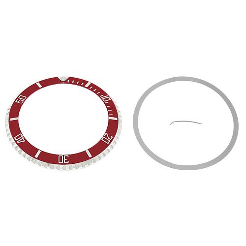 BEZEL & INSERT FOR VINTAGE ROLEX SEADWELLER WATCH 16600, 16660 INSTALLED RED