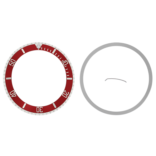 BEZEL & INSERT FOR VINTAGE ROLEX SEADWELLER WATCH 16600, 16660 INSTALLED RED