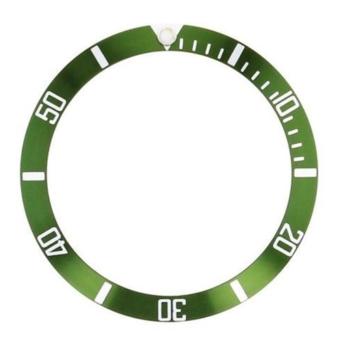 BEZEL INSERT FOR 44MM ALPHA SUBMARINER DIVER AUTOMATIC GREEN WATCH