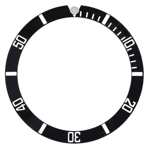BEZEL INSERT FOR 44MM CASE OF ALPHA SUBMARINER DIVER AUTOMATIC BLACK TOP QUALITY
