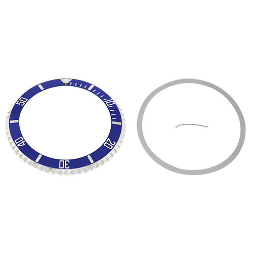 INSTALLED BEZEL + INSERT FOR ROLEX SUBMARINER SAPPAIRE 16610LV 16800 16808 BLUE