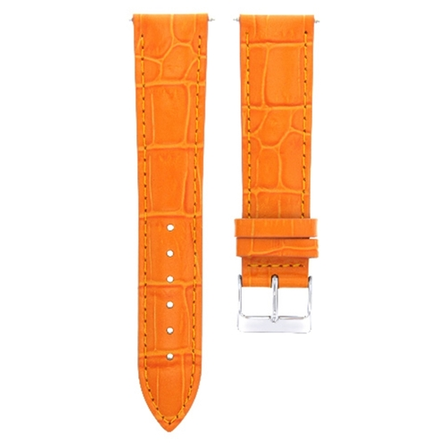 18MM LEATHER WATCH STRAP BAND FOR CHOPARD WATCH ORANGE