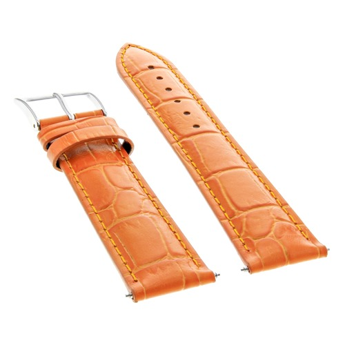19MM LEATHER WATCH STRAP BAND FOR CHOPARD WATCH ORANGE