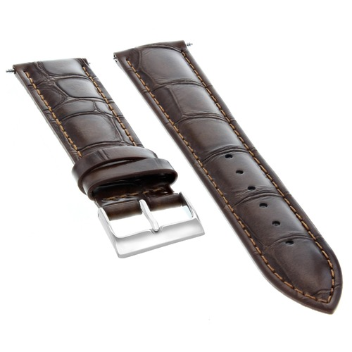 18MM ITALAIN LEATHER WATCH STRAP BAND FOR CHOPARD WATCH DARK BROWN