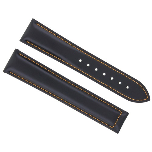 20MM LEATHER STRAP WATCH BAND DEPLOYMENT CLASP FOR MAURICE LACROIX BLACK OS