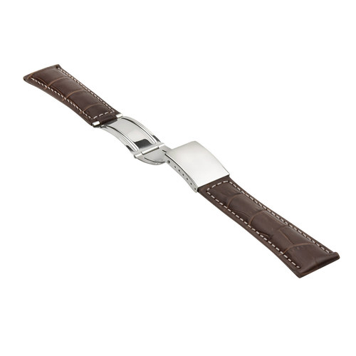 20MM LEATHER STRAP BAND FOR OMEGA SEAMASTER PLANET WATCH REGULAR CLASP BROWN WS