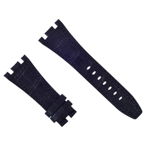 28MM AP LEATHER BAND STRAP FOR 42MM AUDEMARS PIGUET ROYAL OAK OFFSHORE BLACK #B6