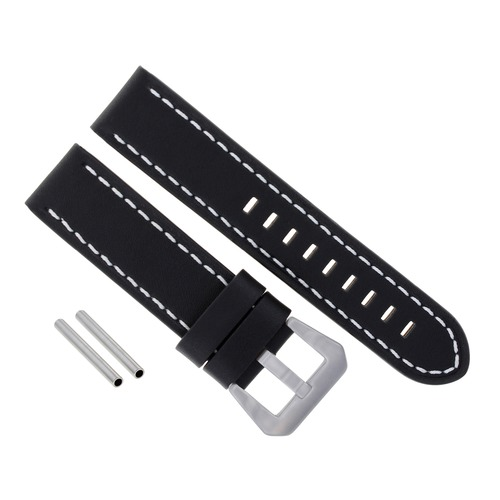 BIG 24MM LEATHER WATCH BAND STRAP FOR 44MM LUM TEC M SERIES - M72 WATCH BLACK WS