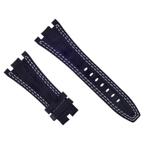 28MM LEATHER WATCH BAND STRAP FOR AUDEMARS PIGUET ROYAL OAK OFFSHORE BLACK WS#B6