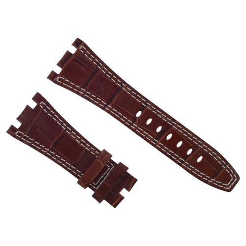 28MM LEATHER WATCH BAND STRAP FOR AUDEMARS PIGUET OFFSHORE SAFARI BROWN WS #B6