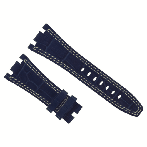 28MM LEATHER BAND STRAP FOR 42MM AUDEMARS PIGUET ROYAL OAK OFFSHORE BLUE WS #B6