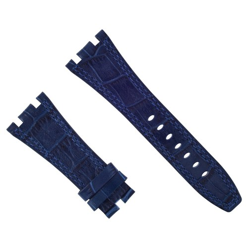 28MM LEATHER BAND STRAP FOR 42MM AUDEMARS PIGUET ROYAL OAK OFFSHORE WATCH BLUE