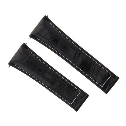 LEATHER STRAP FOR ROLEX DAYTONA 16518 116519 116520 116523 BLACK WS REGULAR TQ