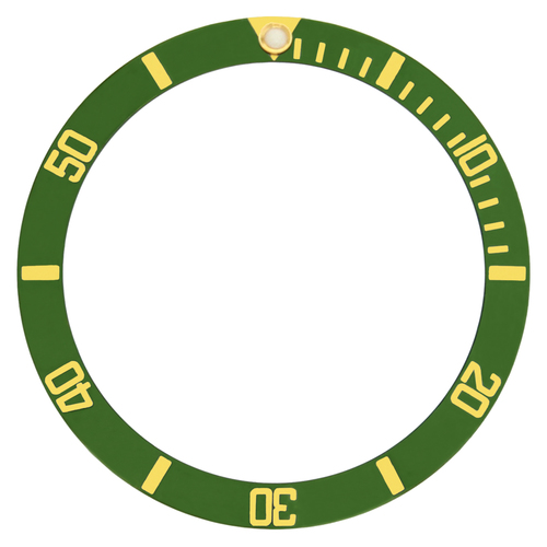 BEZEL INSERT ALUMINUM FOR ROLEX SUBMARINER 16800 16613 16808 16610 GOLD GREEN