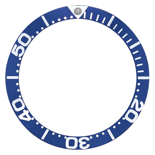 BEZEL INSERT FOR OMEGA SEAMASTER 300M QUARTZ 2264.50, 2551.80 LARGE NUMBERS BLUE