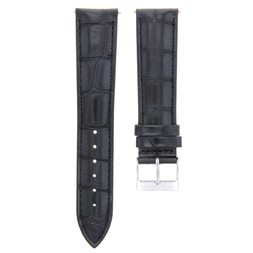 19/16MM LEATHER WATCH BAND STRAP FOR 34MM ROLEX AIR KING 1500 1505 5500 BLACK