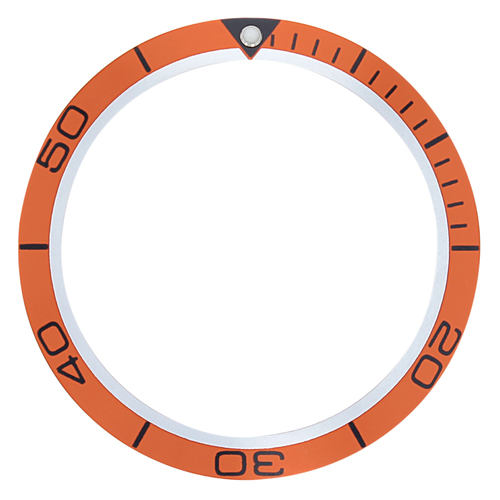 BEZEL INSERT FOR OMEGA SEAMASTER PLANET OCEAN CHRONOMETER 2209.50 42MM ORANGE