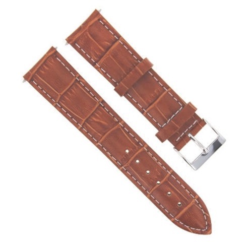 19MM LEATHER WATCH STRAP BAND FOR ROLEX DATE AIRKING 5700 14000 14010 TAN WS