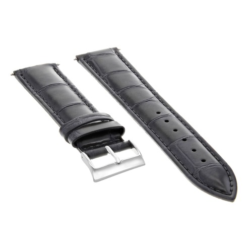 19MM GENUINE ITALIAN LEATHER WATCH STRAP BAND FOR 34MM ROLEX DATE AIR KING GREY
