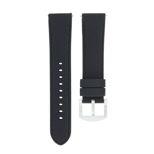 20MM RUBBER WATCH BAND STRAP FOR ROLEX DATEJUST 16013 16233 16234 WATCH BLACK