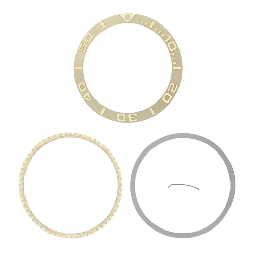 GOLD BEZEL INSERT COMPLETE FOR YACHTMASTER 16800, 16803, 16608, 16610, 16613