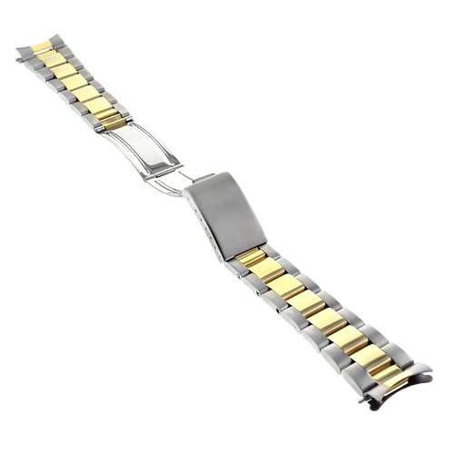 OYSTER WATCH BRACELET BAND SUBMARINER GOLD/S.STEEL TWO TONE FOR 40MM ROLEX 20MM