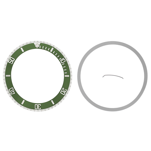 ROTATING BEZEL + INSERT FOR ROLEX NO DATE SUBMARINER +TENSION 14060 14060M GREEN