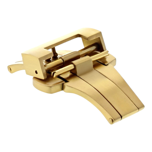 20MM DEPLOYMENT WATCH BAND CLASP STRAP BUCKLE FIT FOR PANERAI MARINA 40MM GOLD
