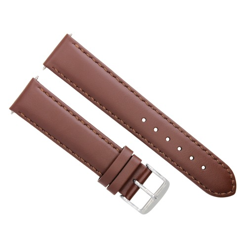 18MM SMOOTH LEATHER STRAP BAND FOR LONGINES WATCH LIGHT BROWN #4