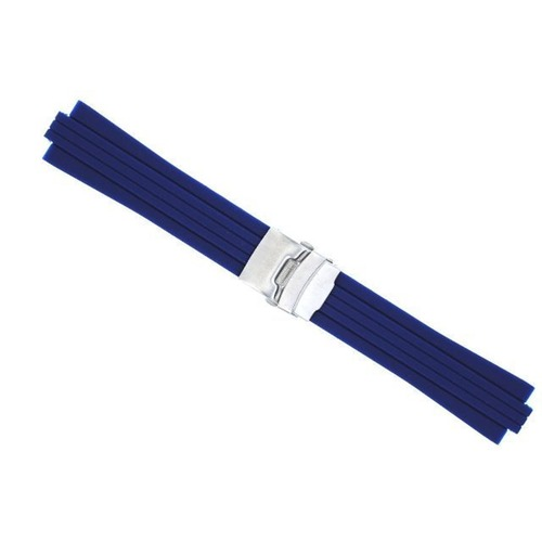 24MM 10MM RUBBER DIVER BAND STRAP BRACELET FOR ORIS TT1 F1 CHRONO NAVY BLUE