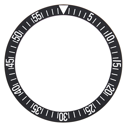 BEZEL INSERT FOR OMEGA SEAMASTER WATCH BLACK 37 MM X 30MM FLAT