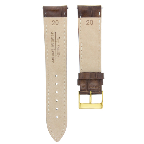 20MM LEATHER STRAP BAND FOR 36MM ROLEX DATEJUST 1602 1603 16014 LIGHT BROWN GOLD