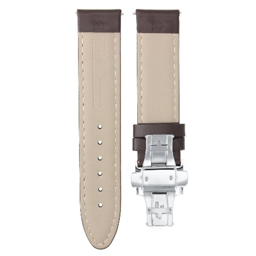 20MM LEATHER STRAP SMOOTH BAND FOR ROLEX DATEJUST 16014 16233 16234 D/BROWN