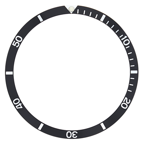 BEZEL INSERT FOR OMEGA WATCH 120 BLACK PARTS