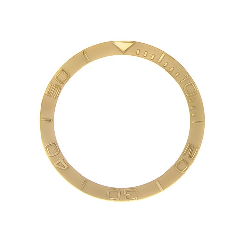 BEZEL INSERT FOR 40MM ROLEX YACTHMASTER 16622, 16623 WATCH GOLD COLOR