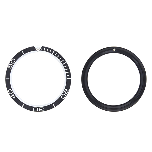 NEW HIGH QUALITY BEZEL INSERT FOR OMEGA PLANET OCEAN 42MM EASY TO SNAP BLACK