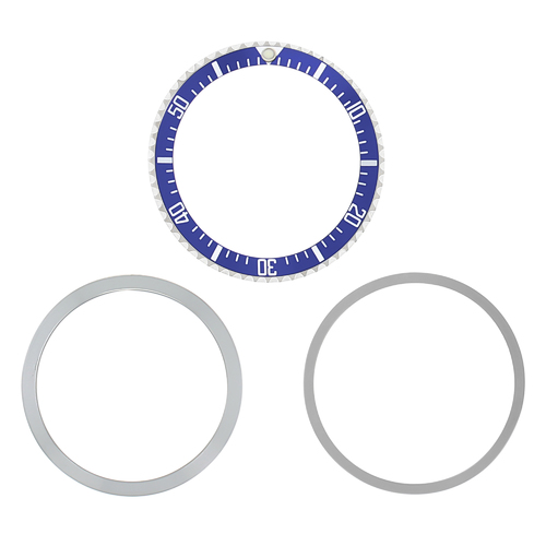 BEZEL, RETAINING, INSERT FOR ROLEX SUBMARINER WATCH MILITARY 5517/1680 BLUE