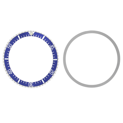 BEZEL & INSERT FOR ROLEX SUBMARINER WATCH MILITARY STYLE 5517 1680 INSTALL BLUE