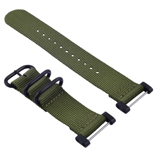 SUUNTO CORE NYLON STRAP DIVER BAND LUG ADAPTER SET 3 RINGS PVD MILITARY GREEN