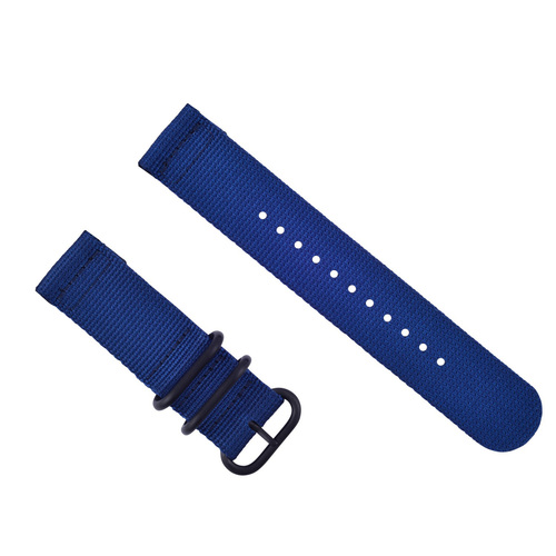 NEW SUUNTO CORE NYLON STRAP DIVER WATCH BAND LUG ADAPTER SET 3 RINGS PVD BLUE