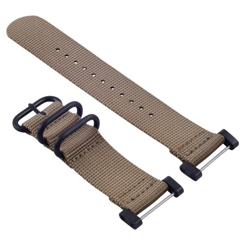 NEW SUUNTO CORE NYLON STRAP DIVER WATCH BAND LUG ADAPTER SET 3 RINGS PVD SAND