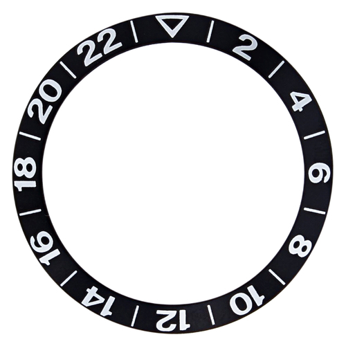 BEZEL INSERT FOR OMEGA GMT SEAMASTER  PROFESSIONAL 300M 2254.50 , 2534.50 BLACK